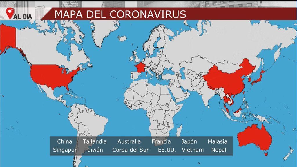paises contagiados con coronavirus