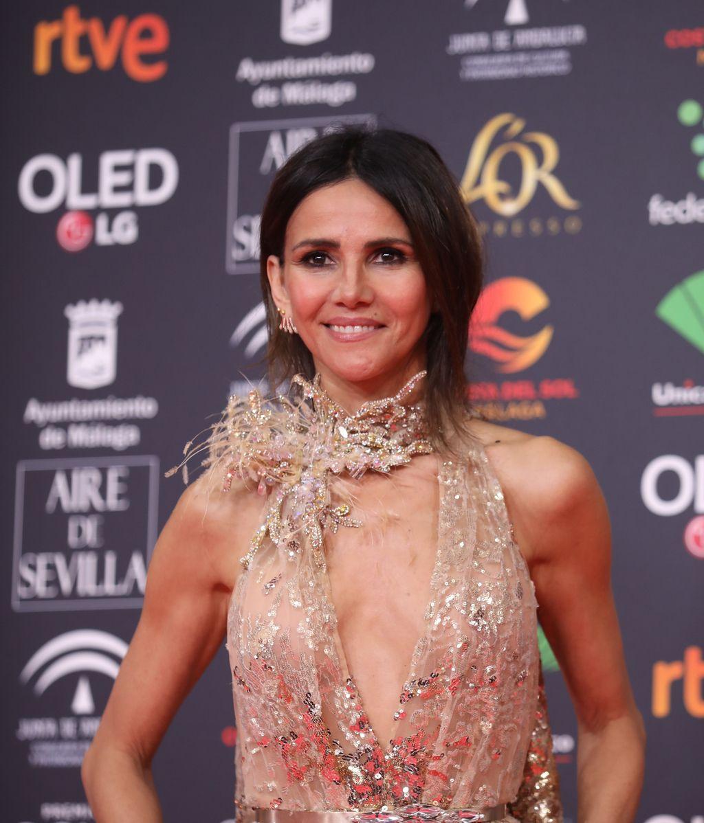 Goya Toledo en la alfombra roja de los Premios Goya 2020