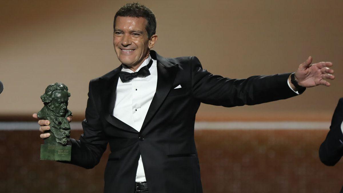 """Antonio Banderas, al recoger el Goya: """"Si mi cardiólogo está viendo esto estará flipando"""""""