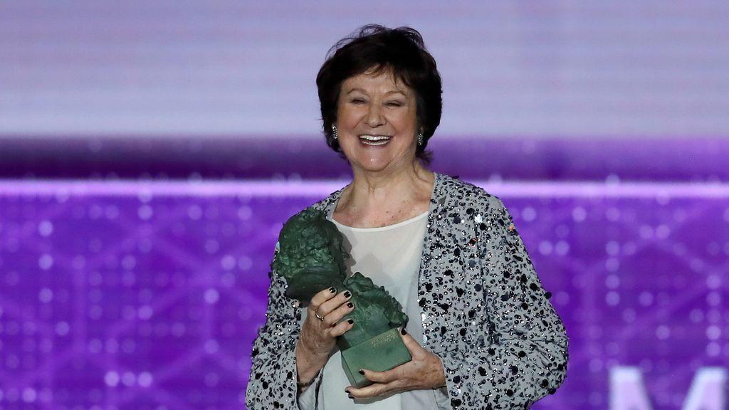La actriz Julieta Serrano recibe el Goya a la Mejor actriz de reparto por su trabajo en 'Dolor y Gloria'