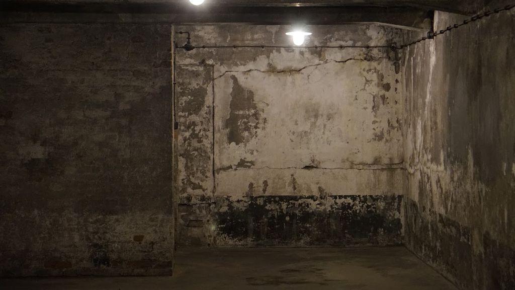 Una de las celdas de Auschwitz I