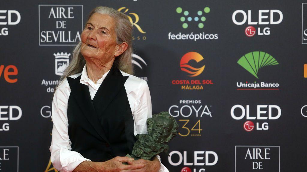 Benedicta Sánchez, mejor actriz revelación a sus 84 años, emociona con las dedicatorias a sus nietos y a su 'Galicia meiga'