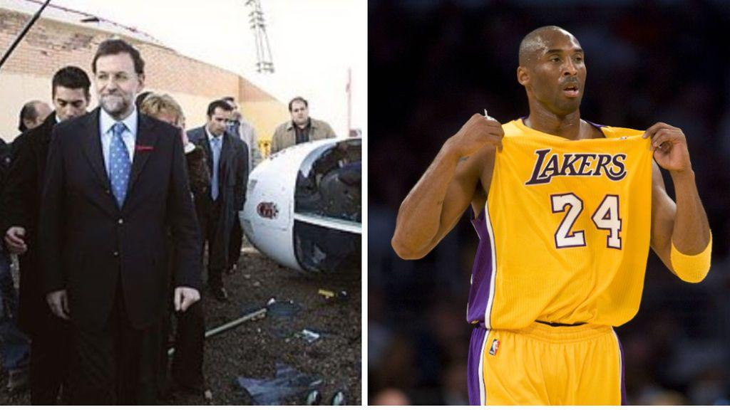 """El tuit que indigna a los internautas comparando la muerte de Kobe con el accidente de Rajoy: """"Pasa a cuartos"""""""