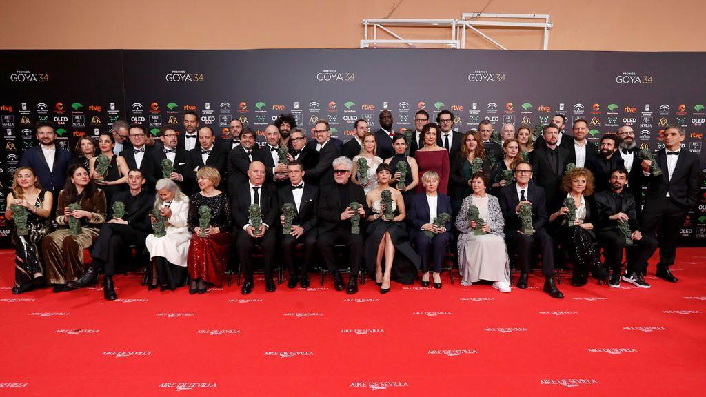 Listado de los premiados en los Goya 2020