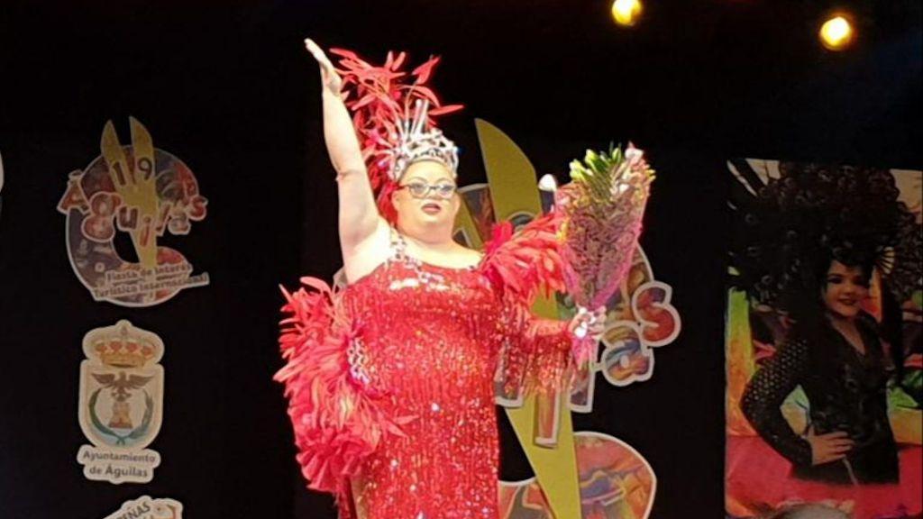 Marina el día que fue elegida Musa del Carnaval de Águilas 2020