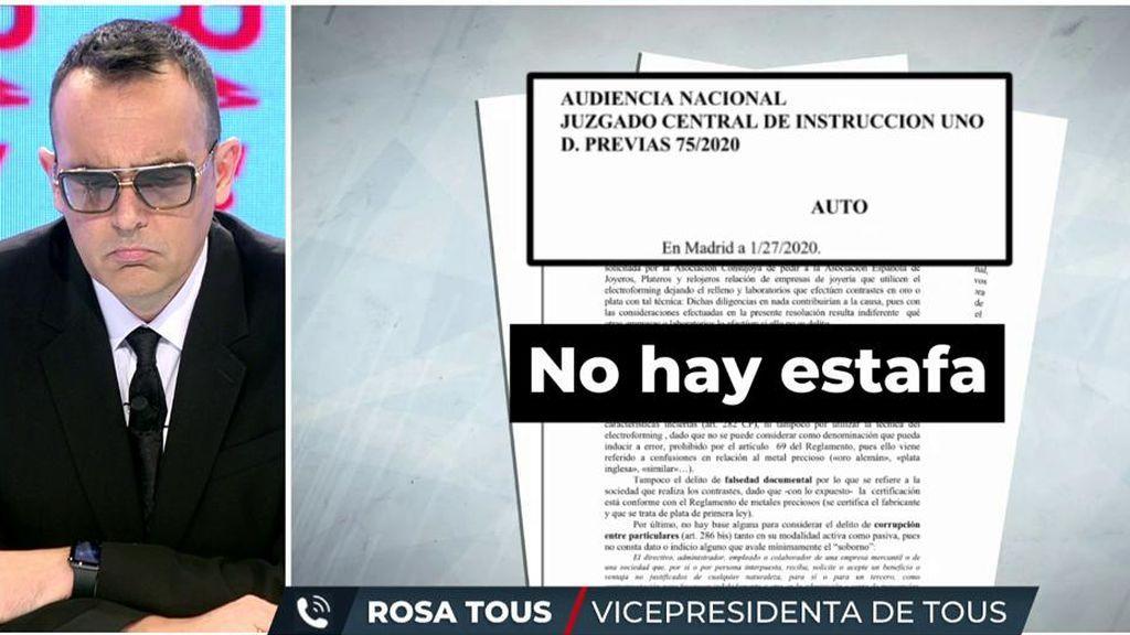 Rosa Tous  hace las primeras declaraciones