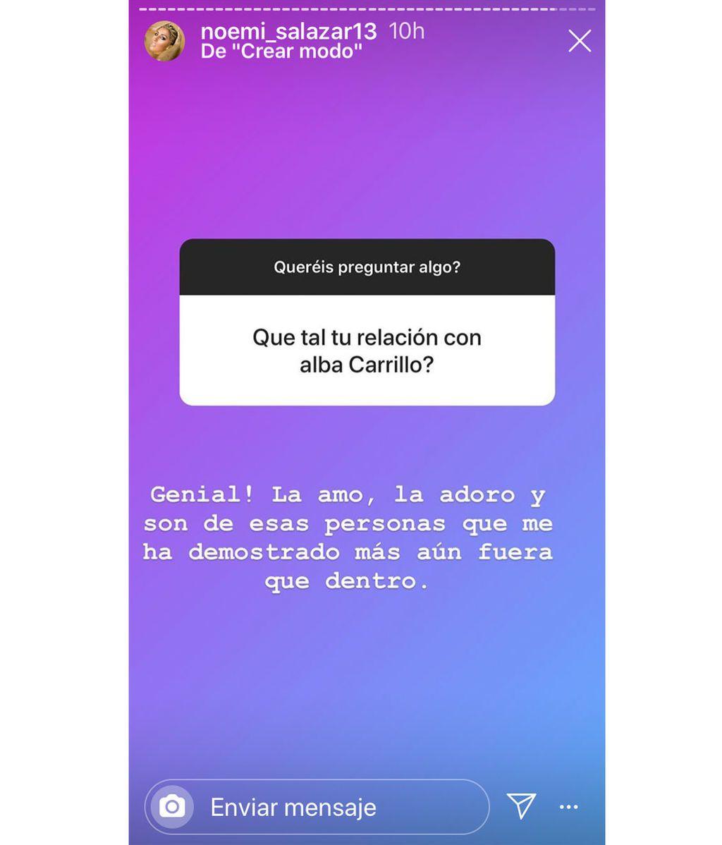 Noemí Salazar aclara su relación con Alba Carrillo
