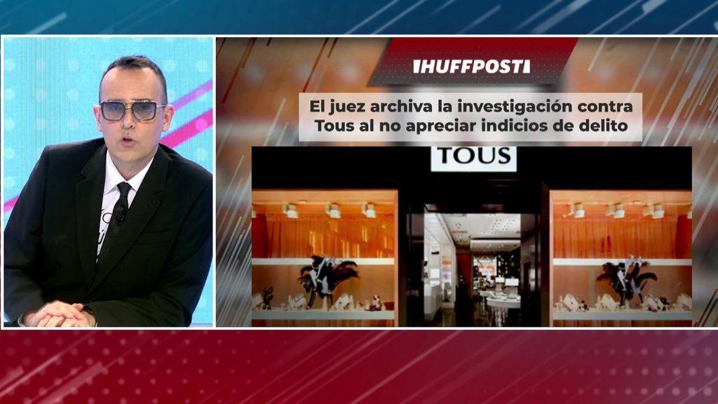 La Audiencia Nacional archiva la investigación contra Tous y Risto reacciona