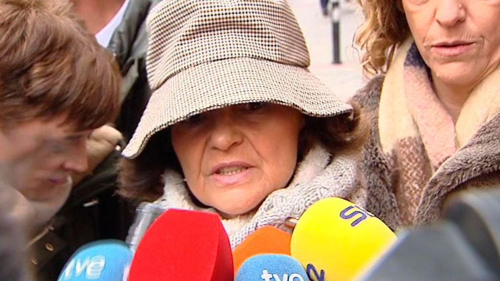 Carmen Calvo, a la entrada de la ejecutiva del PSOE