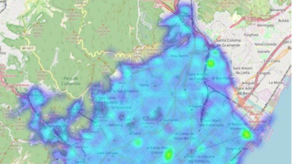 Mapa de los puntos calientes