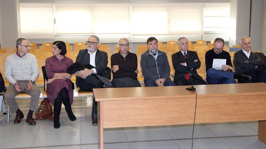 Los ocho acusados en el juicio por el accidente en el Metro de Valencia de 2006