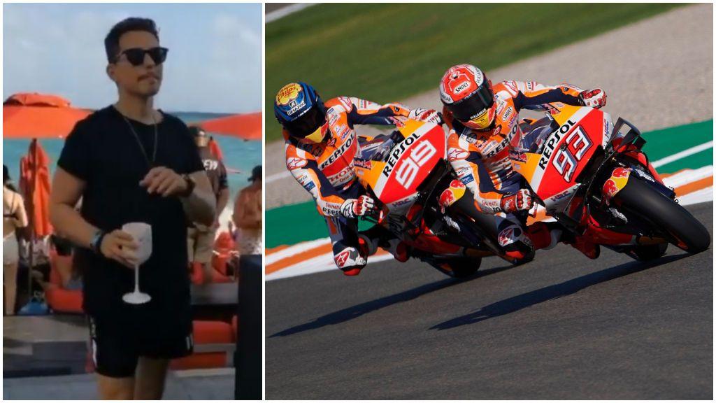 """Jorge Lorenzo sigue de fiesta en fiesta y le llega el vacile de Márquez: """"Esto es más fácil que seguirte con la Honda"""""""