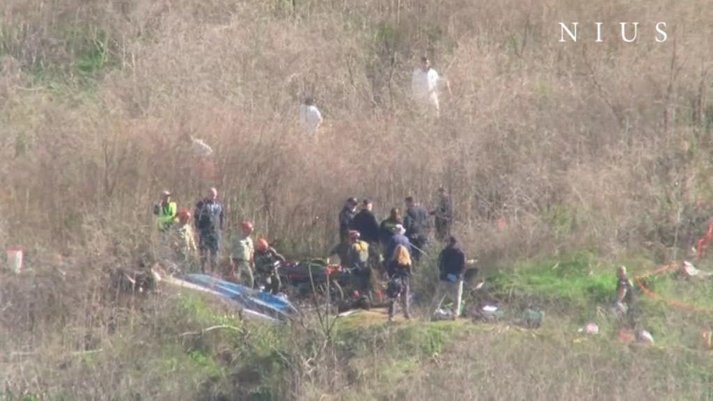 Recuperan varios cadáveres del lugar del accidente de Bryant