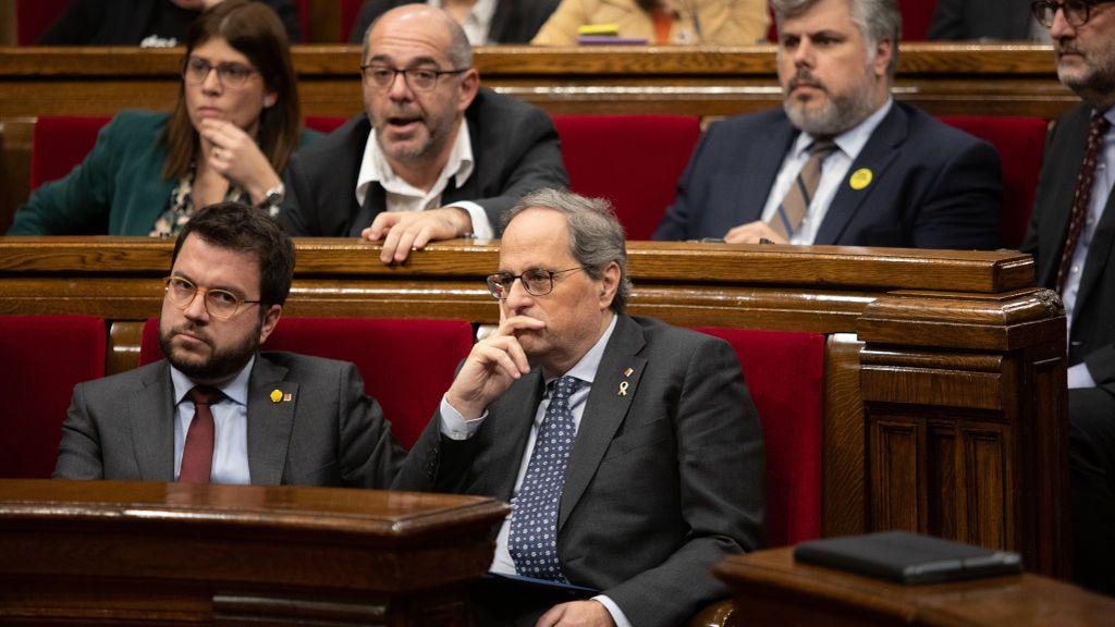 La inhabilitación de Torra y la división del independentismo dejan los presupuestos de Cataluña en el aire