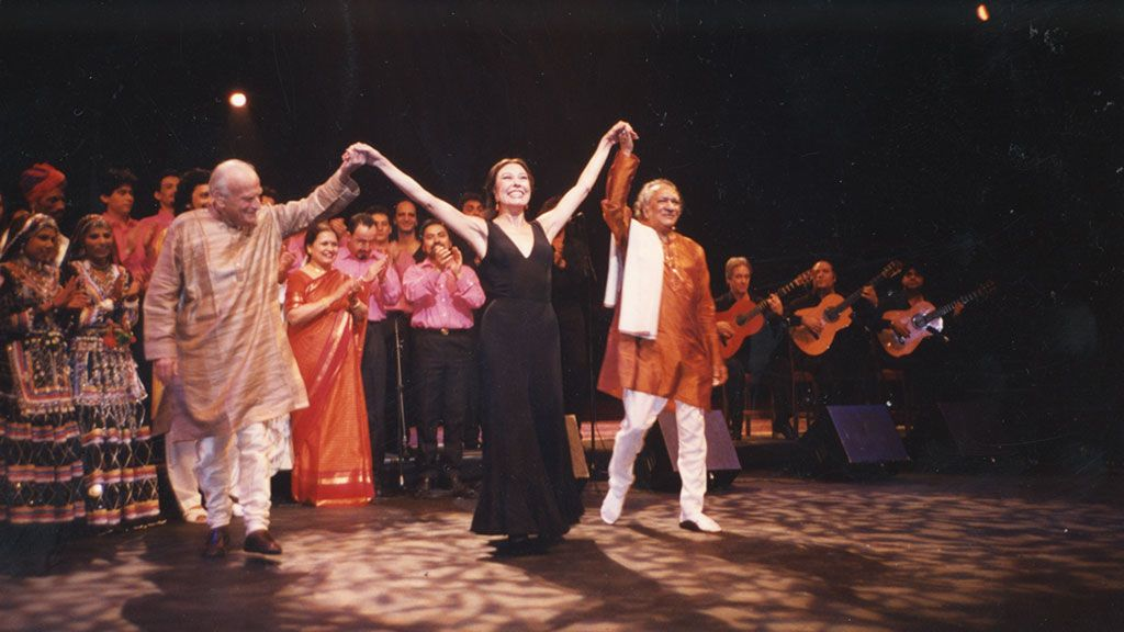 Yehudi Menuhin y Ravi Shankar