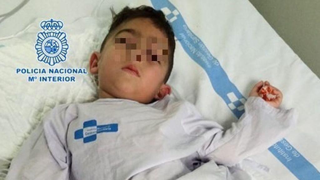 Niño sirio de 3 años