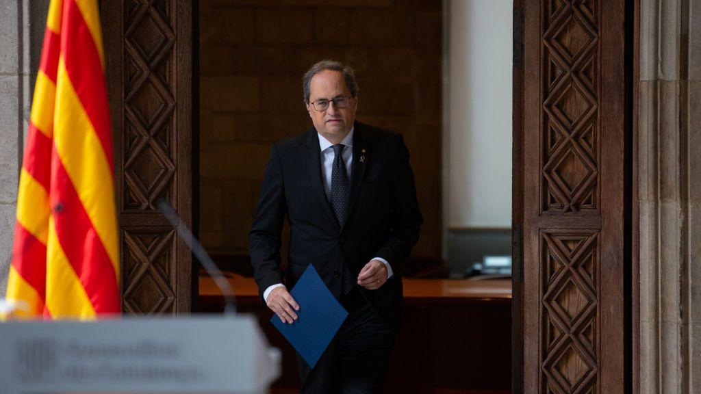 Torra liquida la legislatura y baraja convocar elecciones en Cataluña en mayo