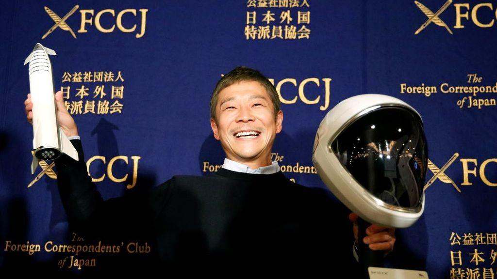 El multimillonario japonés ha puesto fin al concurso para encontrar novia en su viaje a la Luna