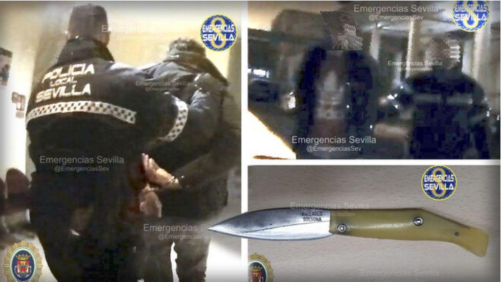 Las imágenes de la detención del violador de Sevilla