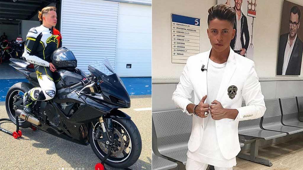 La nueva vida de Christopher Mateo: de ganar 'Supervivientes', a probar como piloto de motos