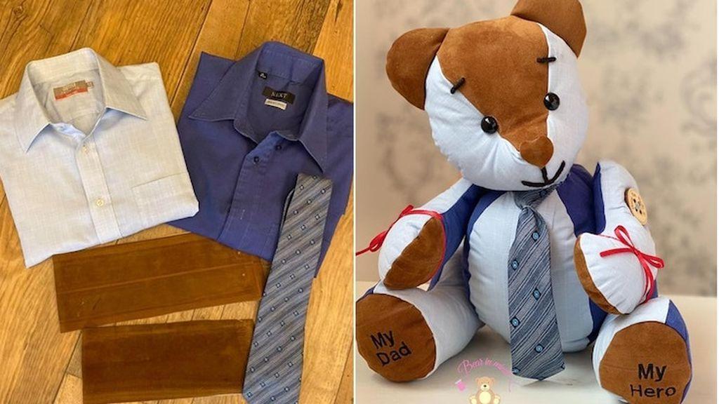 Una joven crea osos de peluche con la ropa de seres queridos que han fallecido