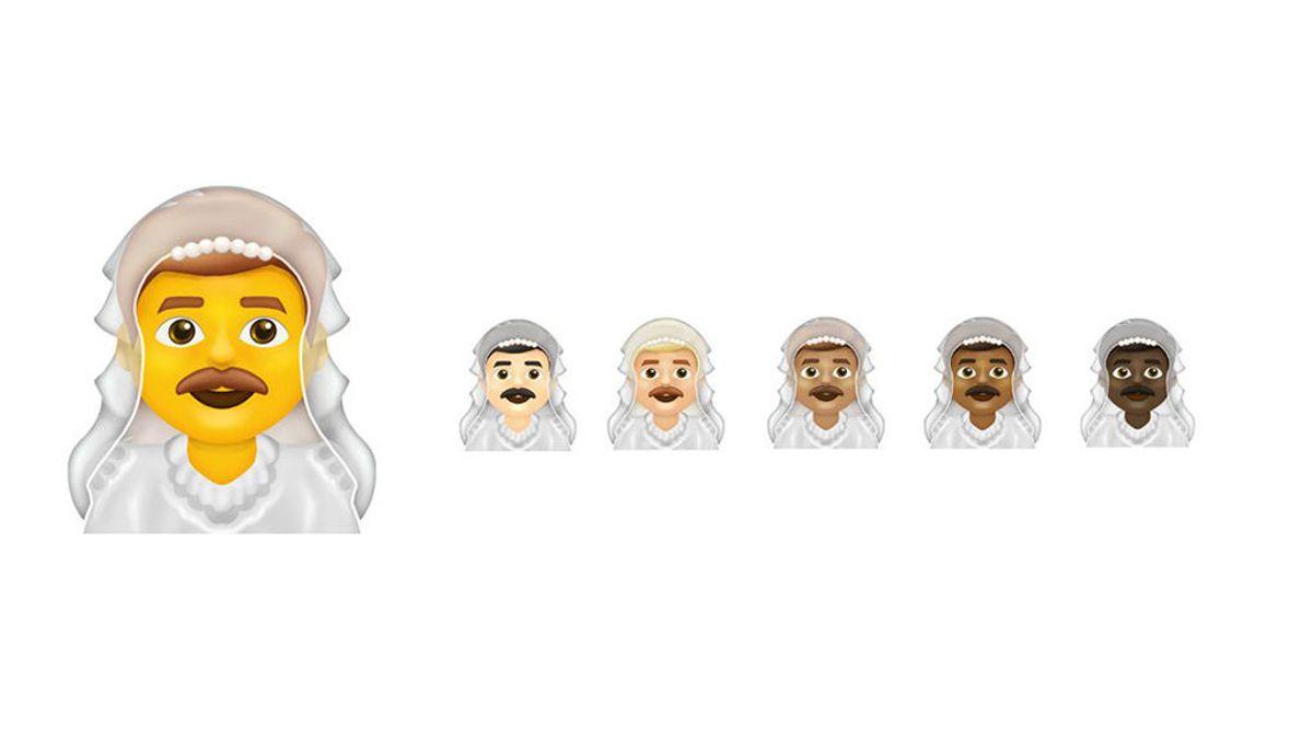La inclusividad se arraiga en los 'emojis', llegan la bandera transgénero y los hombres vestidos de novia