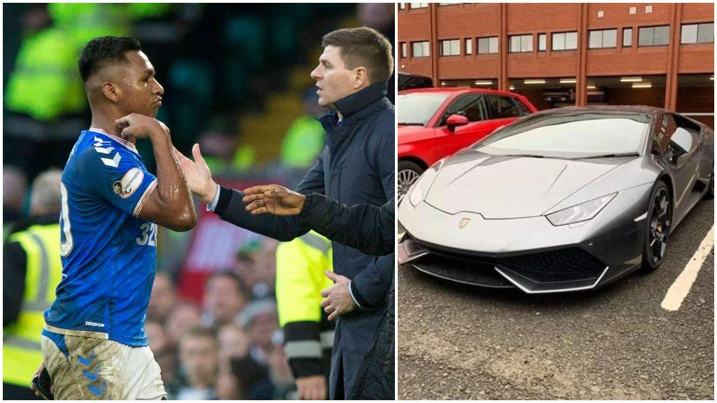 Un futbolista del Rangers se burla de la afición del Celtic e intentan cortarle los frenos de su Lamborghini