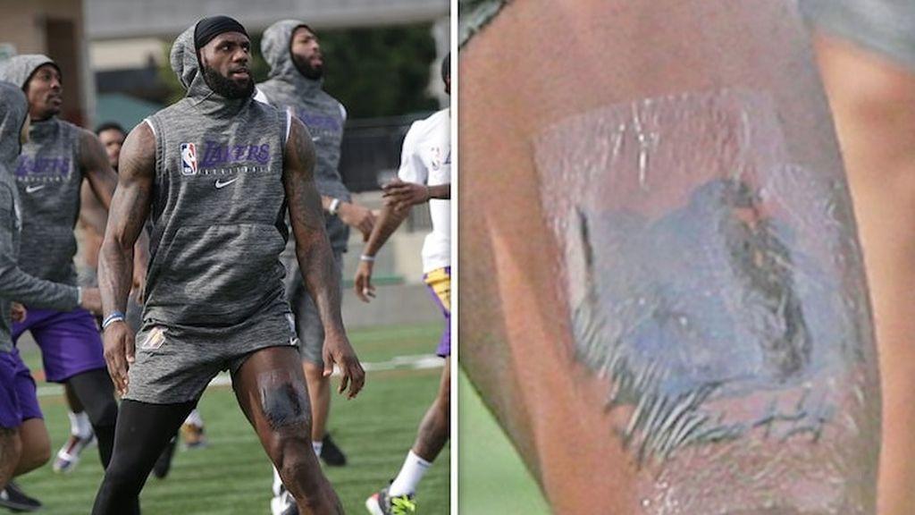 James Lebron honra a su amigo Kobe Bryant con un nuevo tatuaje