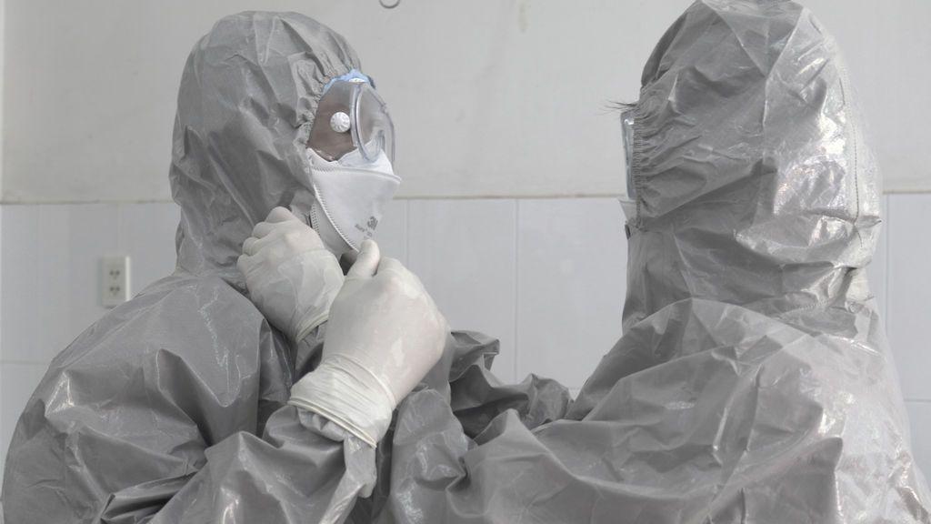 Médicos protegidos frente al coronavirus