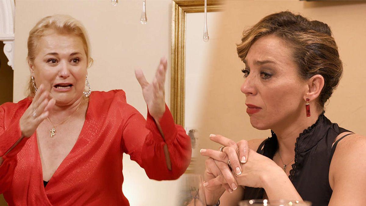 Maribel abandona su propia casa llorando e intenta echar a Mayte en una de las cenas más inolvidables de 'Ven a cenar conmigo'