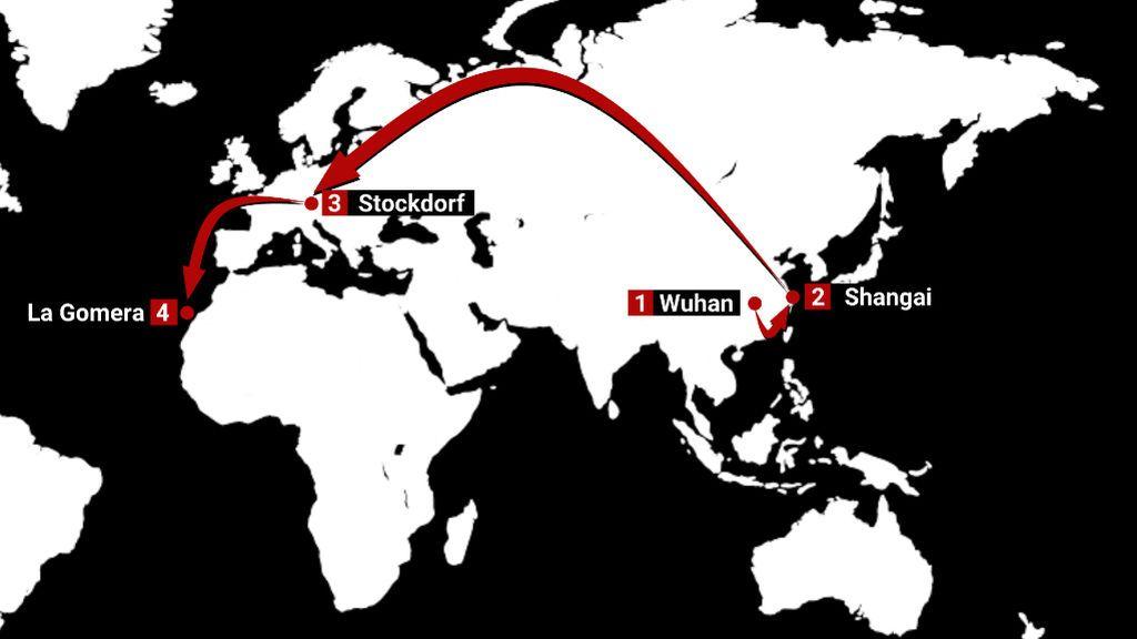 El viaje del coronavirus desde Wuhan a La Gomera
