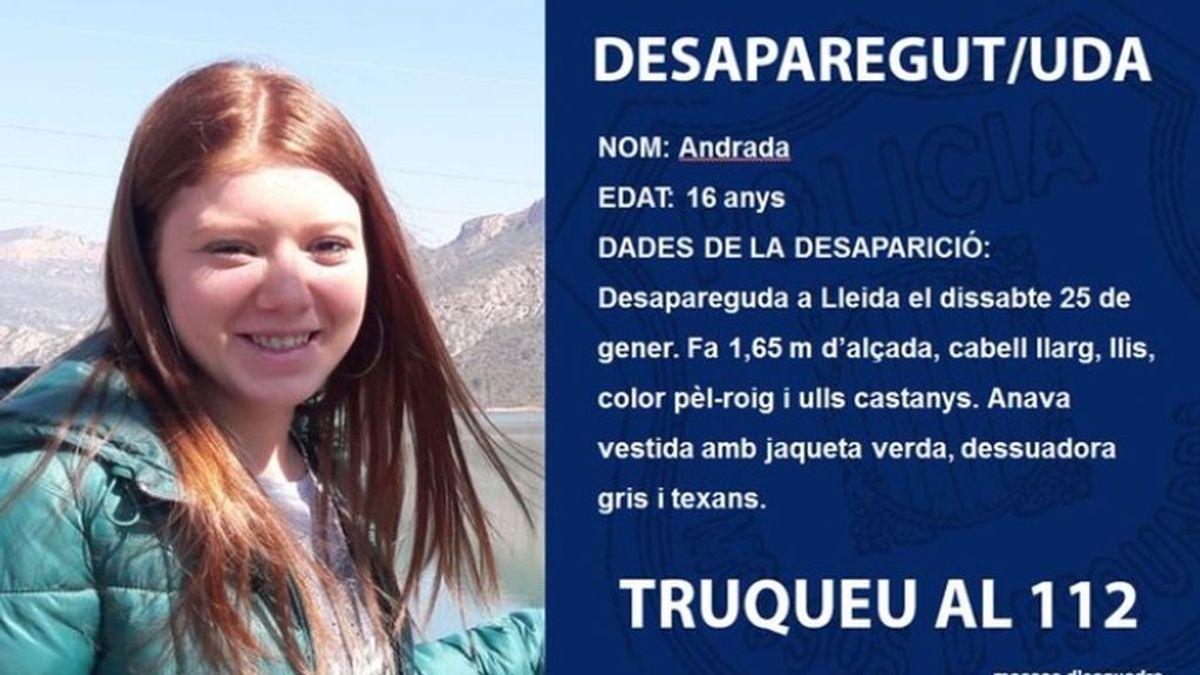 Localizan en Cuenca a Andrada, la menor tutelada por la Generalitat desparecida en Lleida la semana pasada