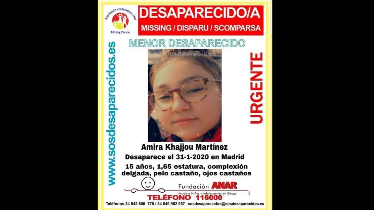 Buscan a Amira Khajjou, una adolescente de 15 años, desaparecida en Madrid