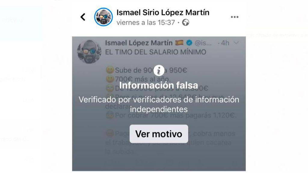 Facebook reprende al jefe de redes sociales del PP por difundir un bulo