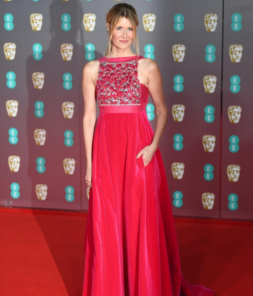 Laura Dern en la alfombra roja de los Premios Bafta 2019