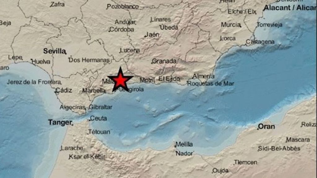 Alerta: se ha registrado un seísmo de magnitud 4,2 con epicentro en Málaga