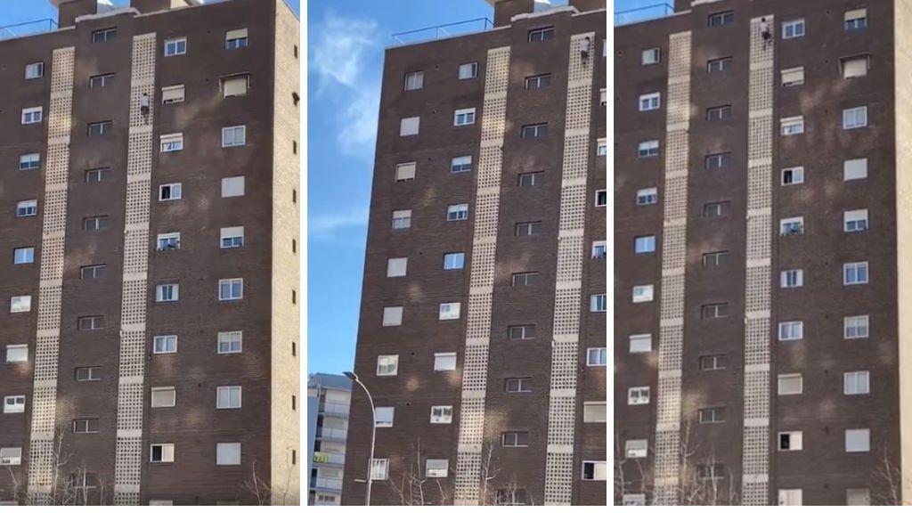 Un joven británico escala un edificio de once plantas en Benidorm para hacerse un selfie