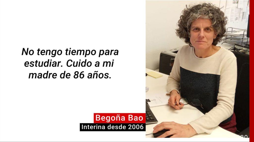 Begoña trabaja como interina en la Diputación de León