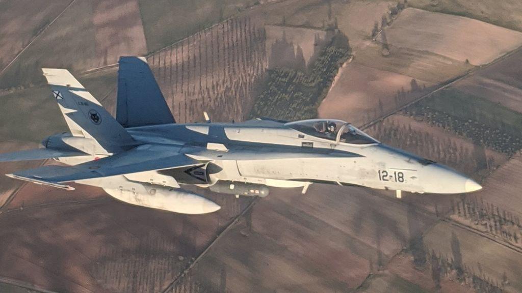 """El testimonio del capitán del F-18 que rescató al avión de Air Canadá: """"Es una misión a la que estamos acostumbrados"""""""