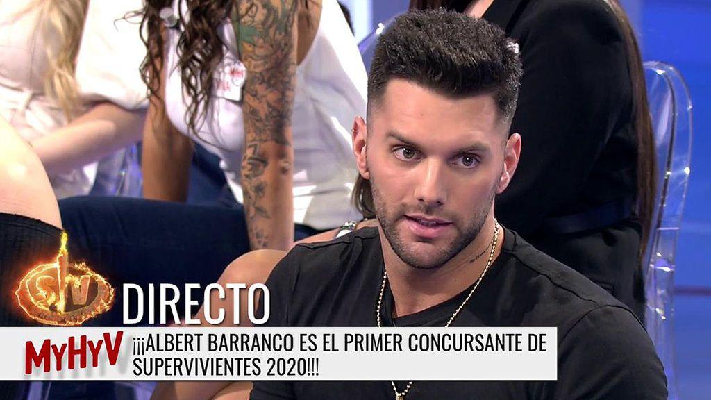 Albert Barranco reacciona a su confirmación para 'SV 20'
