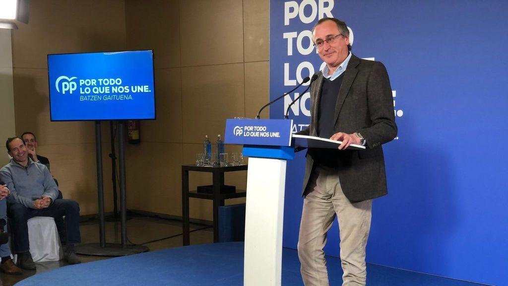 El PP vasco cierra filas con  Alfonso Alonso y reta a  Génova  a que confirme su candidatura a Lehendakari