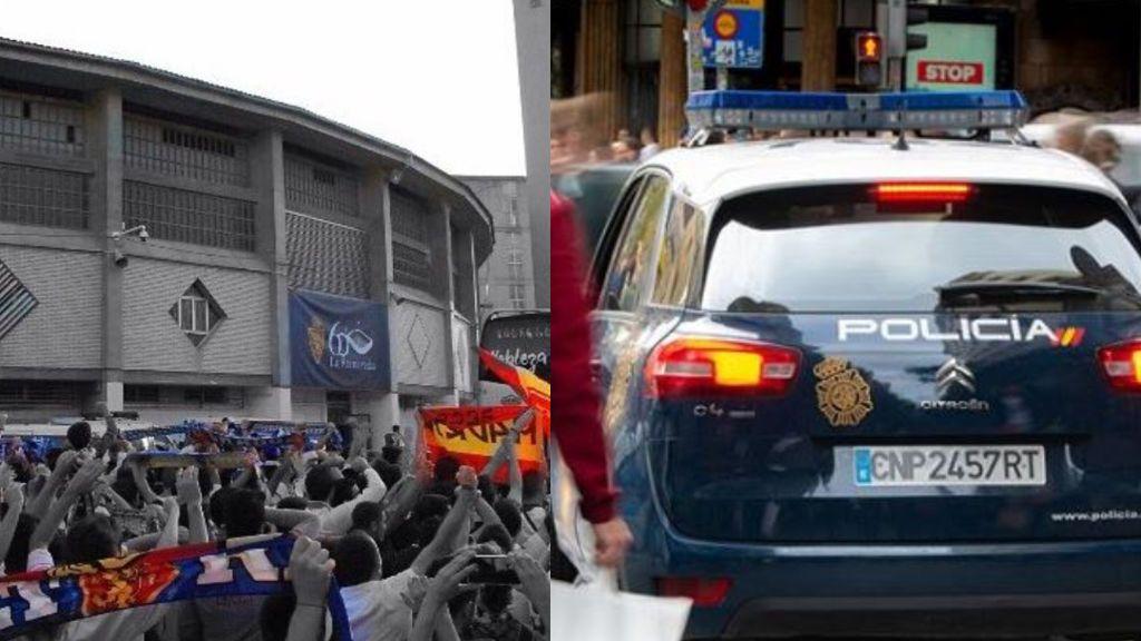 Detenidos 20 ultras del Real Zaragoza por participar en una pelea multitudinaria con radicales del Racing de Santander