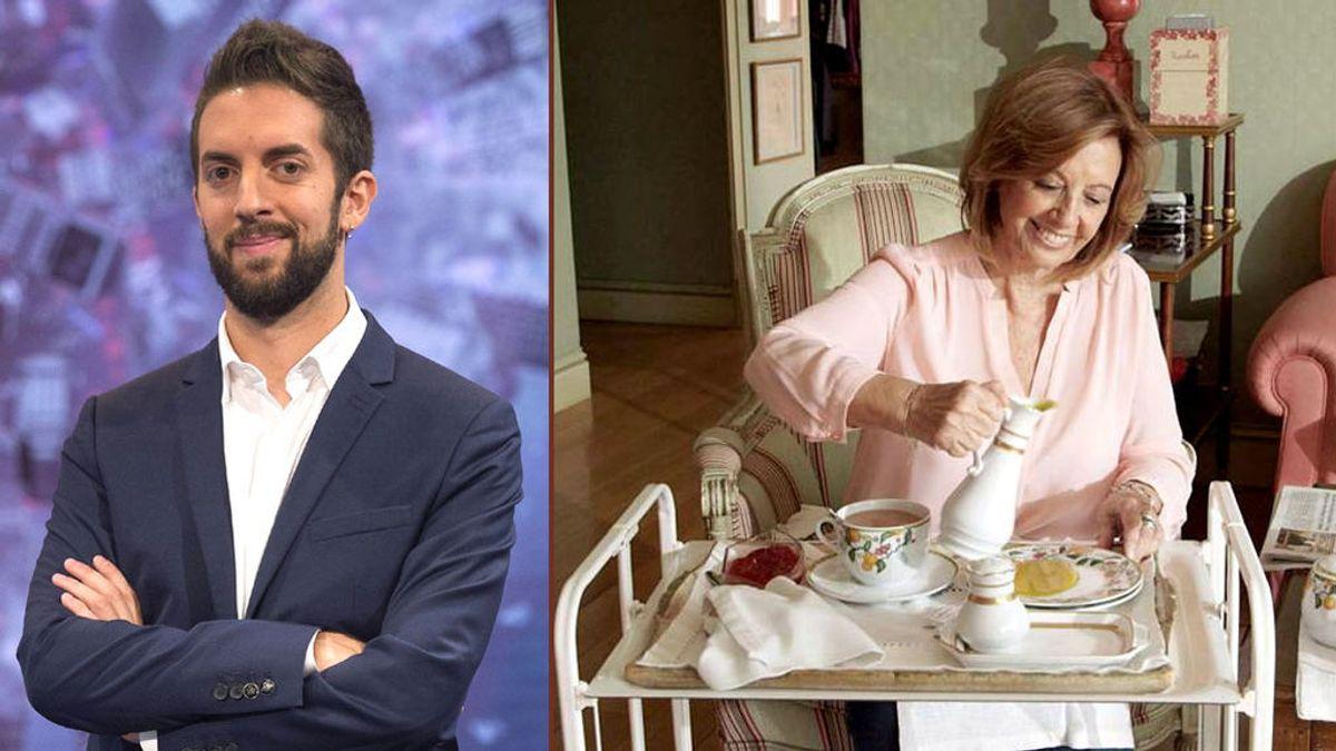 """Broncano cena hoy en el """"casoplón"""" de Mª Teresa Campos: """"Me llevo el bañador"""""""