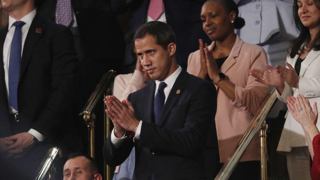 Gran ovación en el Capitolio para Juan Guaidó