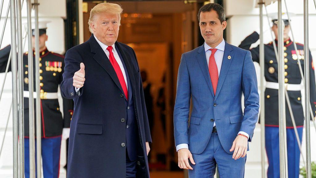 Trump recibe a Guiadó en la Casa Blanca