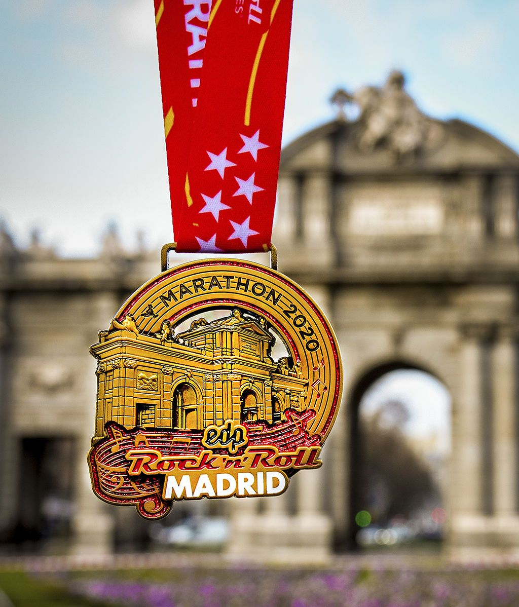 Medallas Oficiales 43 edicion EDP Rock 'n' Roll Madrid Maratón & 1/2