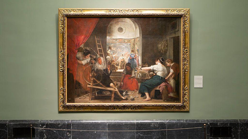 Un nuevo marco de 'Las Hilanderas' mostrará la obra como la concibió Velázquez