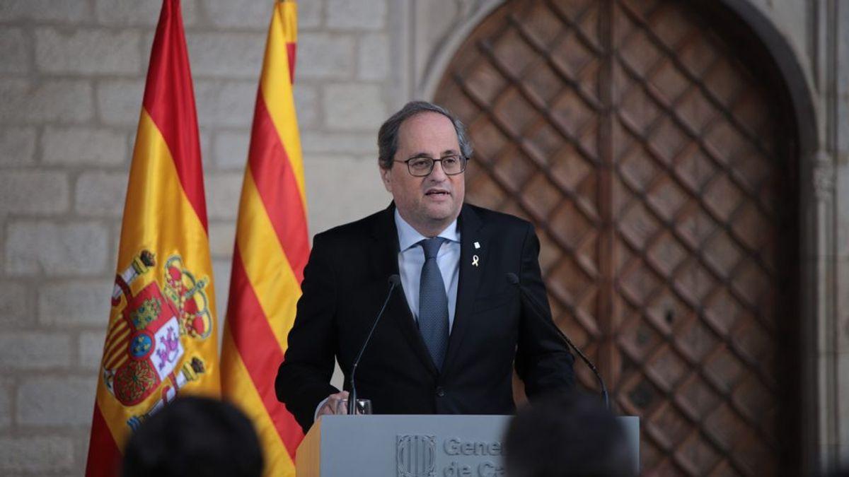 Torra reconoce que el derecho de autodeterminación y el fin de la represión impiden el diálogo con el Gobierno