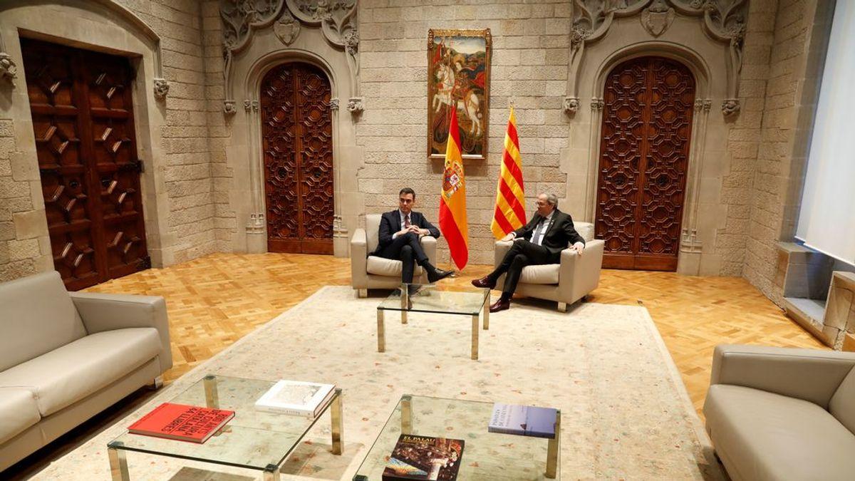 """La """"agenda del reencuentro"""" con la que Sánchez busca convencer a Torra para volver al diálogo"""