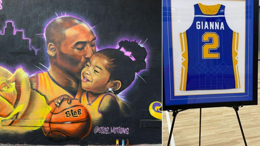 """El homenaje del equipo de la hija de Kobe Bryant y el recuerdo de su madre: """"Mami te ama hasta llegar a la luna y de vuelta. Infinito más uno"""""""